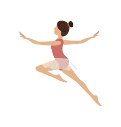 Colorful dancer jump second arabesque vector