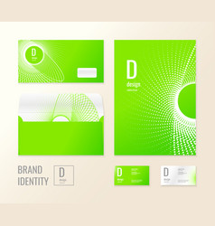 corporate identity the layout templates for your vector image