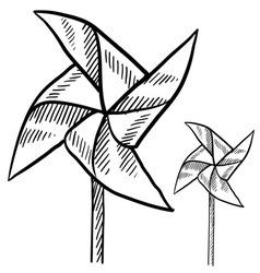 Doodle pinwheel vector