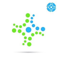 Dotted medical cross icon vector image vector image