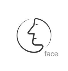 Facial profile vector