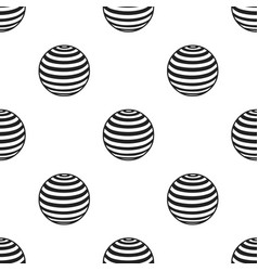 Fitness ball icon in black style isolated on white vector