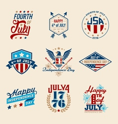 Fourth of july badges vector