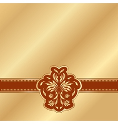 gold background with a red victorian pattern vector image vector image