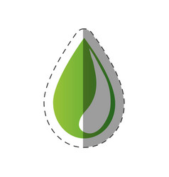green water drop environment design vector image vector image