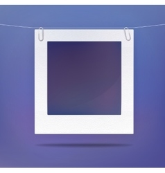 Isolated blank picture or photo frame vector