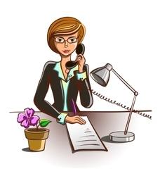 Isolated Cartoon Secretary vector image