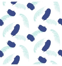 Paint brushstrokes seamless blue pattern vector image vector image