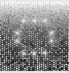 pentagon silver halftone dot abstract background vector image vector image