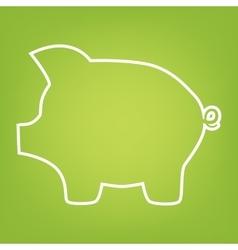 Pig money line icon vector