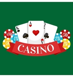 Playing Poker Cards win vector image