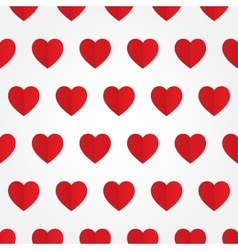 seamless pattern with red heart in flat vector image