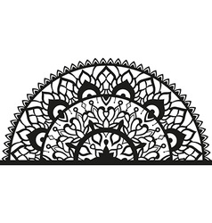 Semi-ircular ornament in ethnic style vector
