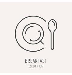 Simple Logo Template Tea vector image