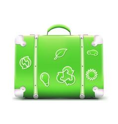 vintage green suitcase vector image