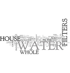 Whole house water filters text word cloud concept vector