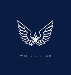 Winged star vector