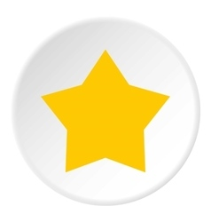 Yellow celestial star icon flat style vector