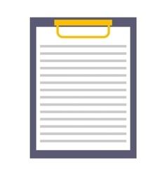 Clipboard paper checklist icon vector