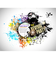 Abstract Disco Club Flyer vector image