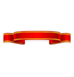 ribbon christmas holiday style vector image
