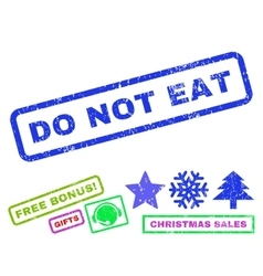 Do not eat rubber stamp vector