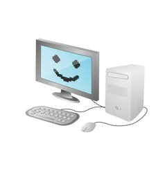 Cartoon home computer vector