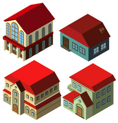 3d design for different styles of houses vector image