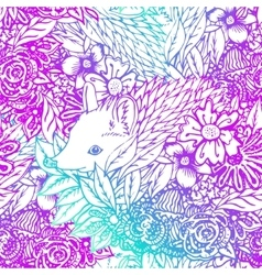Cute little hedgehog seamless pattern vector