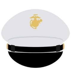 Cap officer of the us navy vector