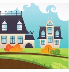 my little village vector image