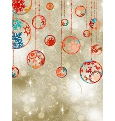 Christmas baubles on elegant background eps 8 vector