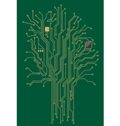 Computer motherboard tree vector