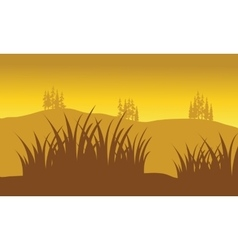 Silhouettes of grass vector