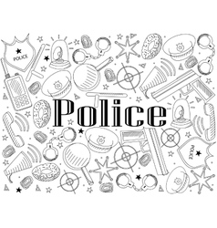 Police coloring book vector