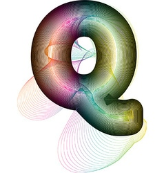 Abstract colorful letter q vector