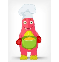 Funny monster chef vector
