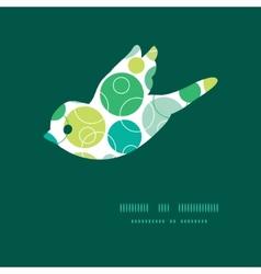 abstract green circles bird silhouette vector image