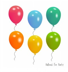 Balloons for Party vector image