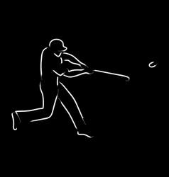 baseball pinch hitter vector image
