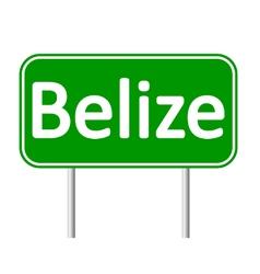 Belize road sign vector