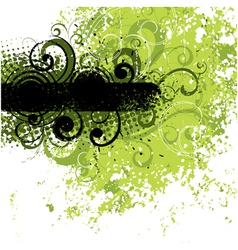 black and green background vector image