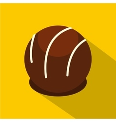 Chocolate candy icon flat style vector