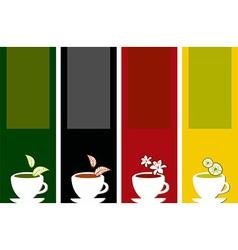 colorful tea labels vector image