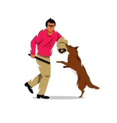 Dog training cartoon vector