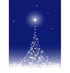 dreamful christmas tree vector image