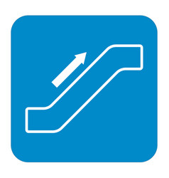 escalator staircase icon vector image