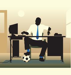 football desk vector image vector image