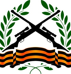 georgievsy ribbon and sniper rifles vector image vector image