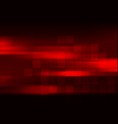 glowing red abstract tech squares geometric vector image vector image